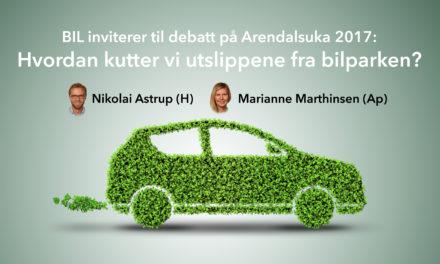BIL på Arendalsuka: Hvordan kutte CO2-utslipp fra biltrafikken?