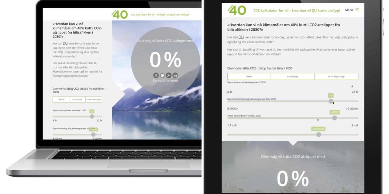 Oppdatering: CO2-kalkulatoren