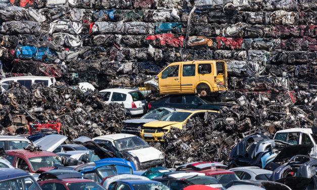 97,4 % av vrakede biler gjenvinnes